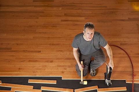 install a wood floor