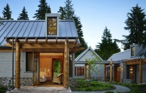 Metal roofing is a striking, sensible alternative for contemporary design. Photo: David Vandervort Architects