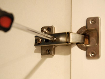 With a European-style hinges, adjustments are easy with the turn of a screw.