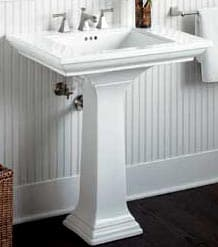 install a bathroom sink pedestal