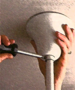 how to install a ceiling fan canopy
