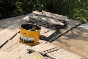 Concrete tile roof repair
