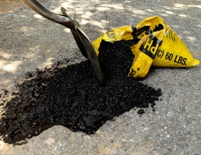 repair asphalt driveway mix