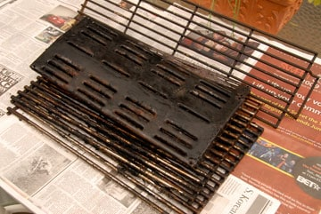 clean a barbecue grills burners