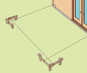 batterboards patio construction