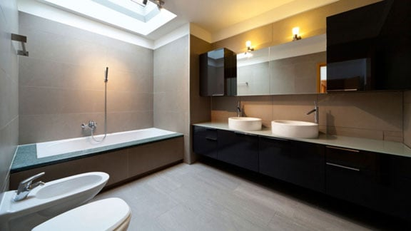 New home improvement bath remodel