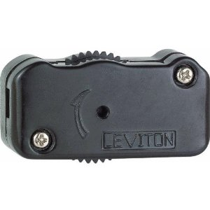 Lamp cord dimmer costs less than $4 and is easy to mount on the cord. Photo: Leviton
