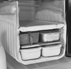 Frost in a freezer compartment reduces efficiency and ruins food. Photo: LOC.org
