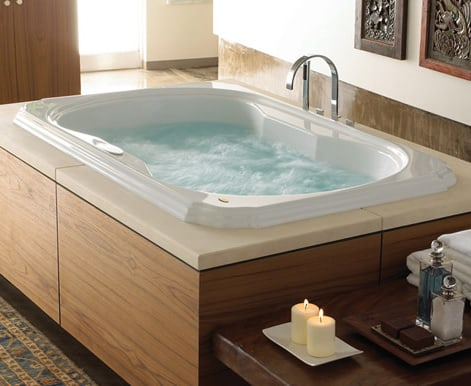 Jets in this spa-style tub churn the water. Photo: Jacuzzi