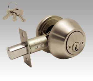 Keyed deadbolt protects hinged doors. Photo: Constructor