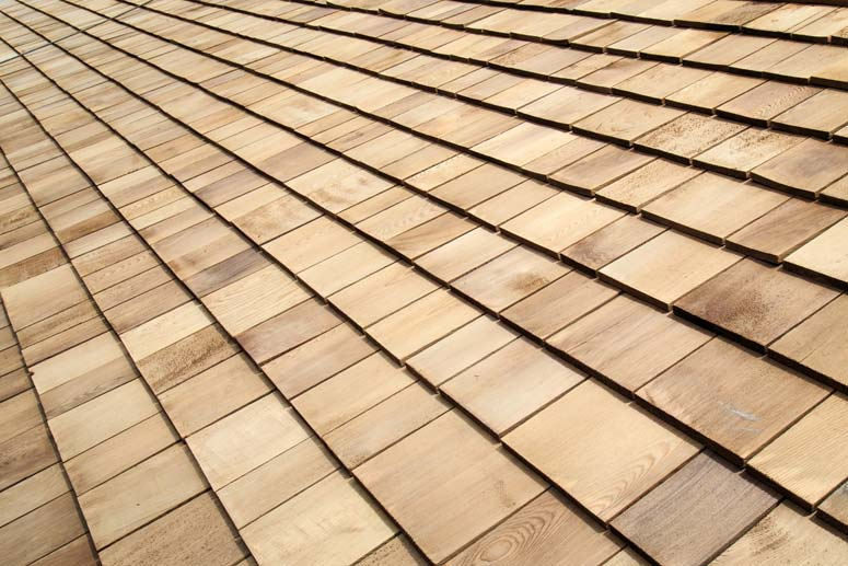 Cedar shingles offer a natural, woodsy look.