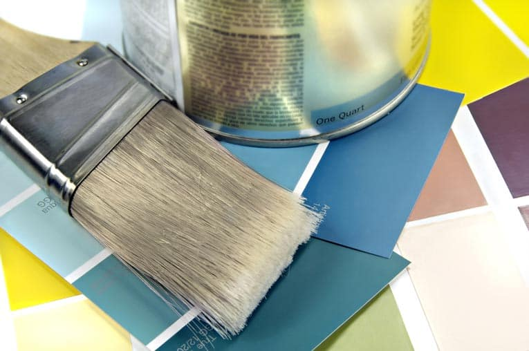 A nylon brush works with either latex or alkyd oil-based paints.