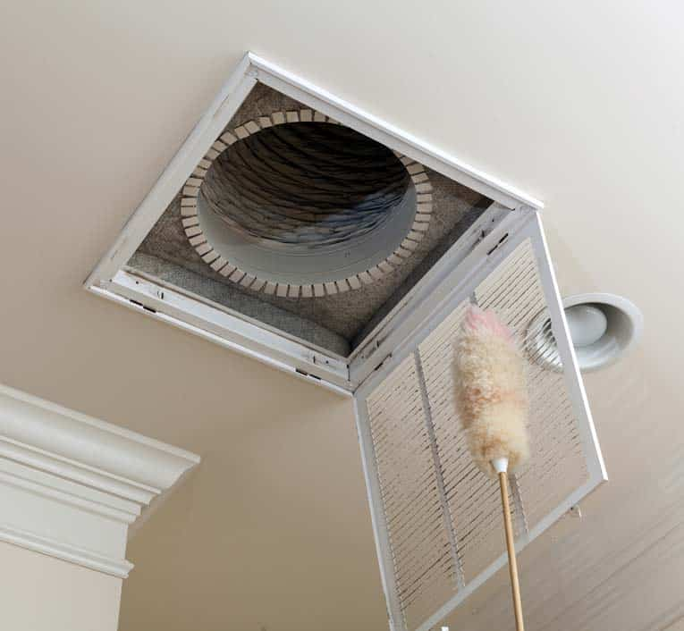 Clean dust off of filter grilles and registers, and change filters twice a year.