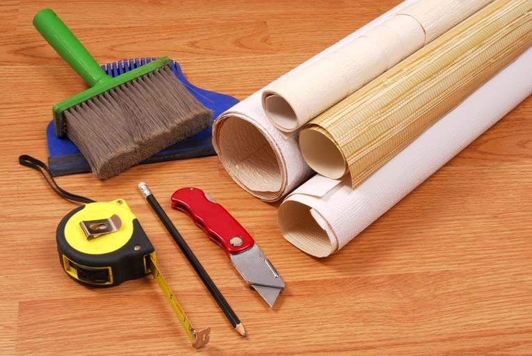 Wallpapering is a very approachable DIY job if you have the right tools and supplies.