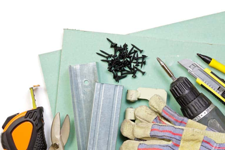 Tools and Supplies for Hanging Drywall