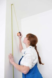 Measure the height of your walls and figure where you want the pattern to fall.