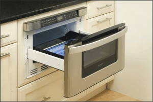 A microwave drawer offers exceptional convenience without sacrificing coveted counter space.