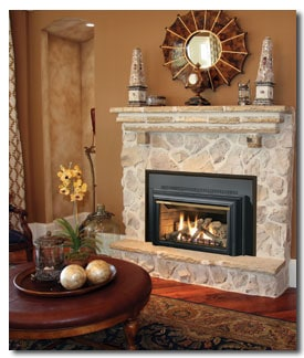 manufactured gas fireplace insert