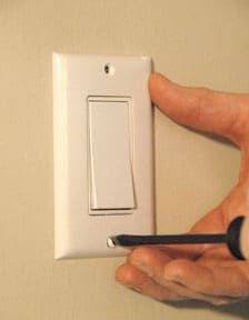 repair a ceiling fan light switch