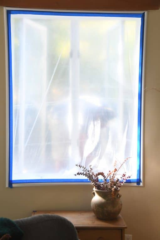 masking inside of window