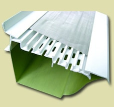 A gutter-guard system, including a perforated PVC body below a stainless-steel mesh.