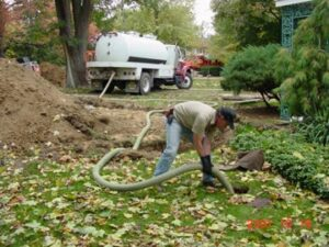 pumping a septic tank