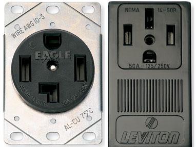 240 volt receptacles