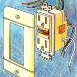 GFCI electrical receptacle for safety