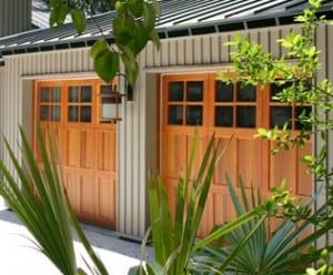 carriage style wood garage doors