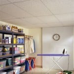 basement remodel with ceiling