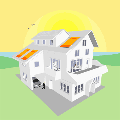 best solar electric panels location
