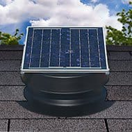 Solar attic fan doesn't require an electrical hookup. Photo: Natural Light