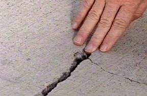 fixing concrete crack