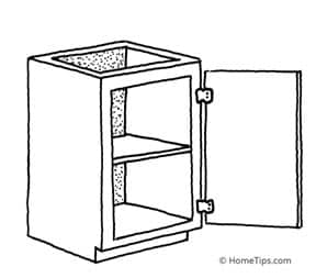 face-frame cabinet construction