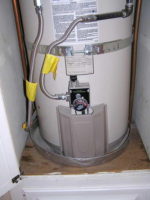 water heater leak pan