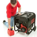 gas powered emergency generator