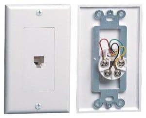 telephone receptacle wallplate