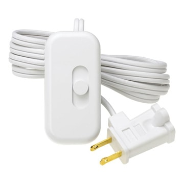 Lamp-cord dimmer simply plugs into the wall outlet and receives the lamp cord. Photo: Lutron