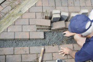 setting brick pavers
