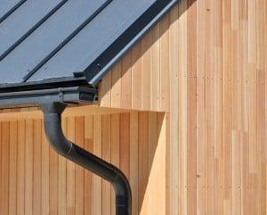 metal roof wood siding