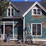 siding repair on Victorian house