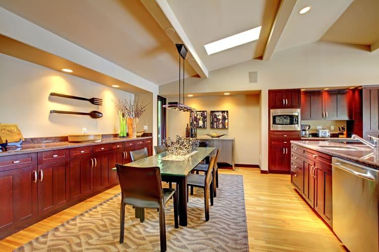 dining room buffet skylight