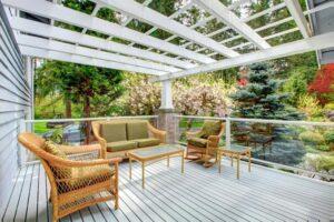 deck glass railing overhead