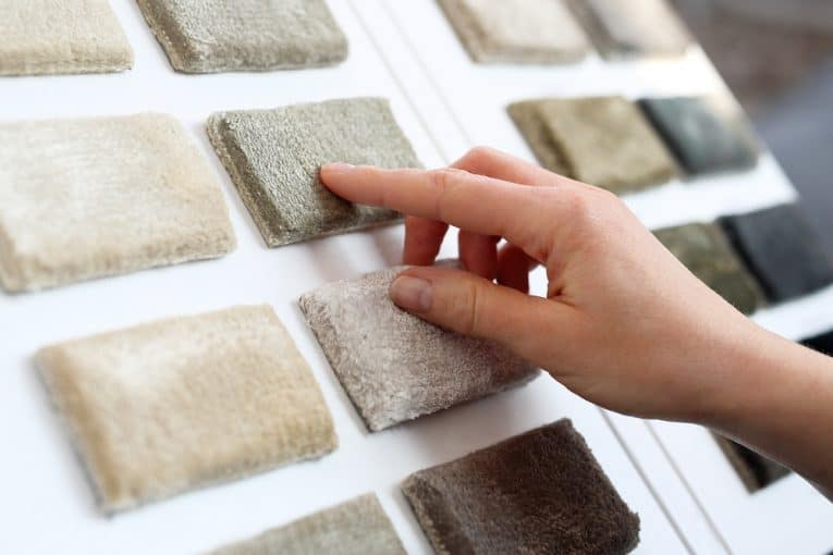 buying carpeting from sample book